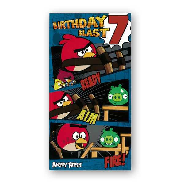 Angry Birds 7th Birthday Card from Dormouse Cards