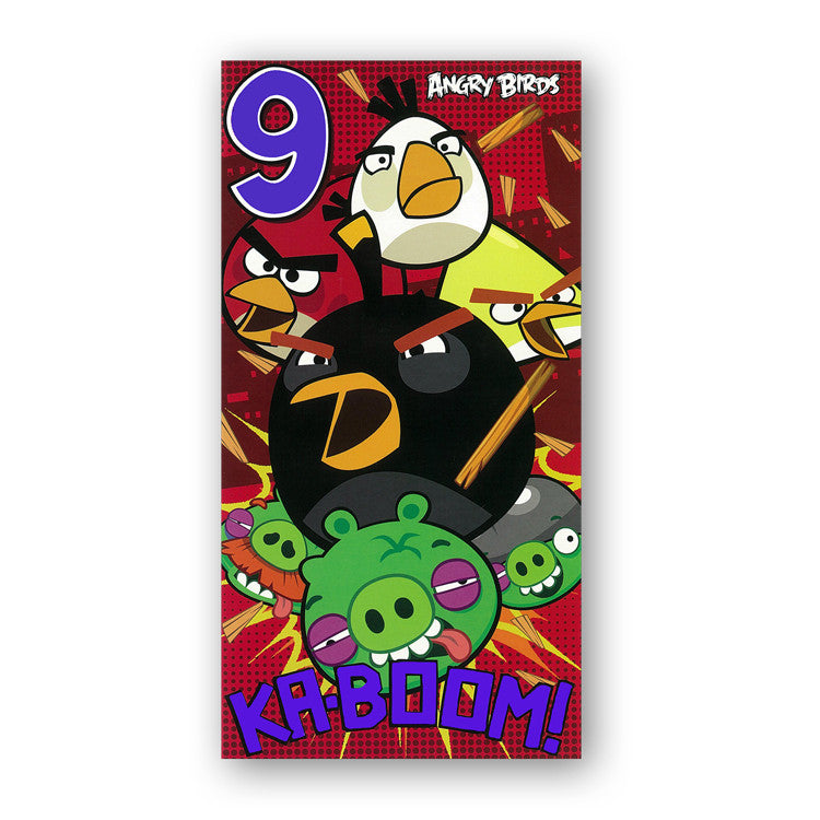 Angry Birds 9th Birthday Card from Dormouse Cards