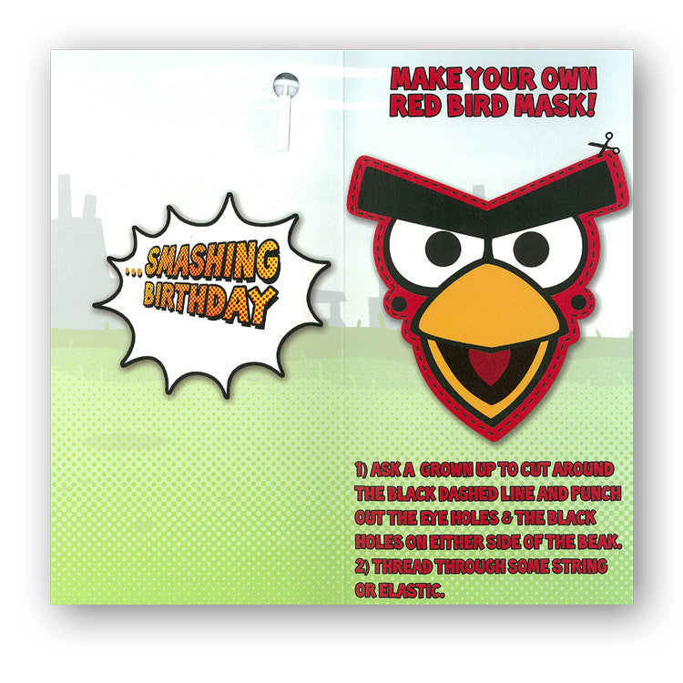 Angry Birds Birthday Card from Dormouse Cards