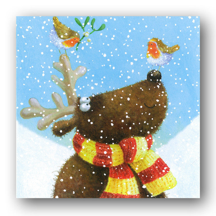 Reindeer Kisses Christmas Cards sold by Dormouse Cards