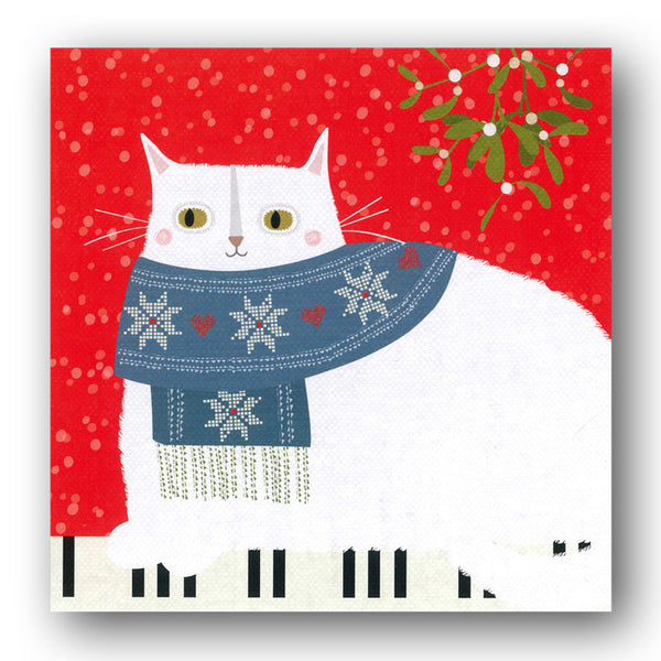 Pack of 8 Cat Christmas Cards