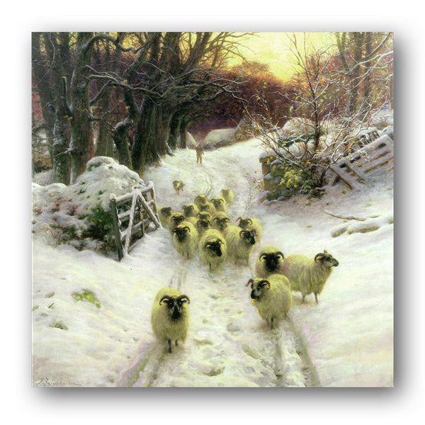 Sun had closed the winter's day Christmas Cards sold by Dormouse Cards