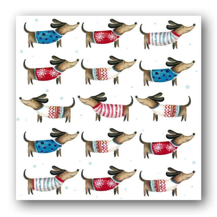 Funny Dachshund Christmas Cards sold by Dormouse Cards