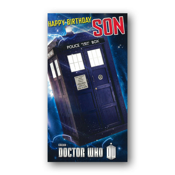 Dr Who Birthday Card - Son from Dormouse Cards