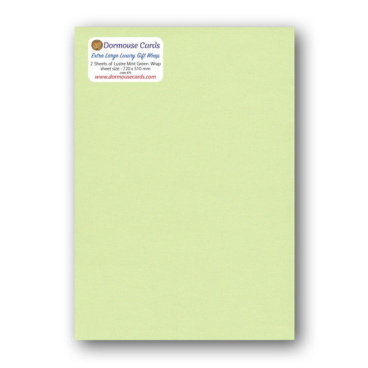 Luxury Shimmer Mint Green Gift Wrap from Dormouse Cards