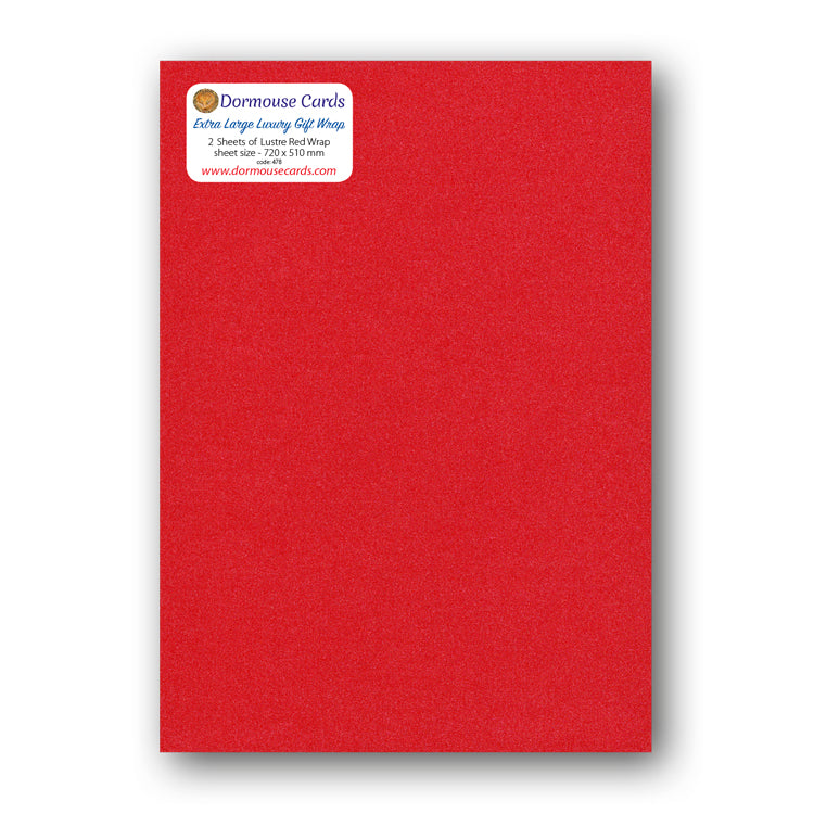Luxury Lustre Red Gift Wrap from Dormouse Cards