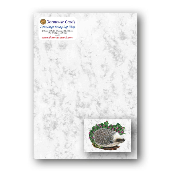 Luxury Marble Gift Wrap Hedgehog Gift Tags from Dormouse Cards