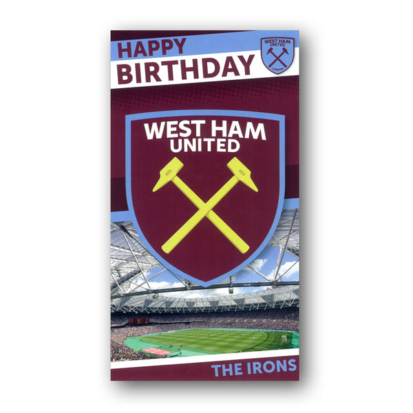 West Ham Birthday Card from Dormouse Cards