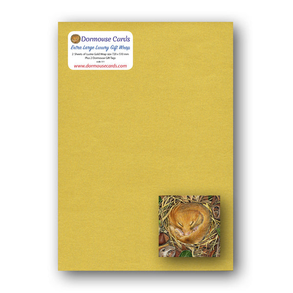Luxury Lustre Gold Gift Wrap Dormouse Gift Tags from Dormouse Cards