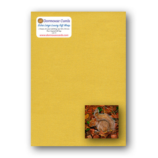 Luxury Gold Gift Wrap Squirrel Gift Tags from Dormouse Cards