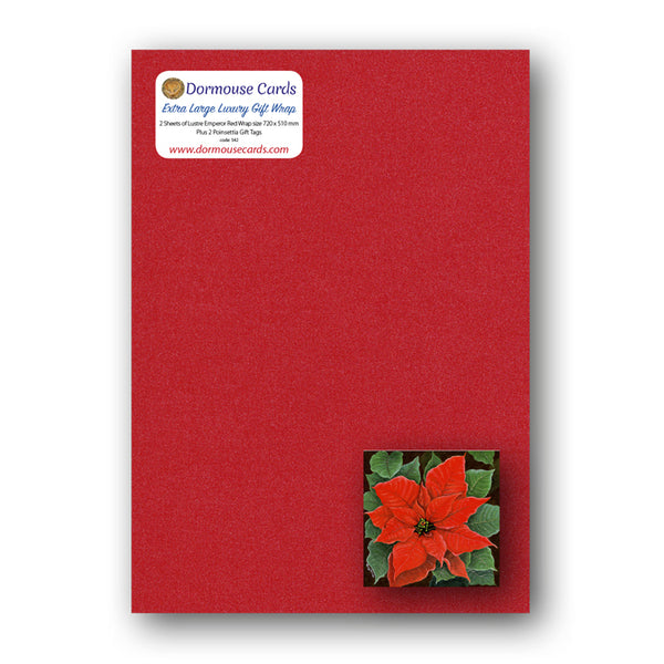 Poinsettia Gift Tags and Wrap from Dormouse Cards