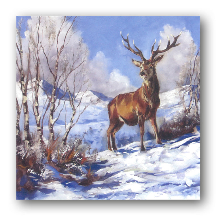 Stag in a Snowy Landscape Christmas Cards from Dormouse Cards
