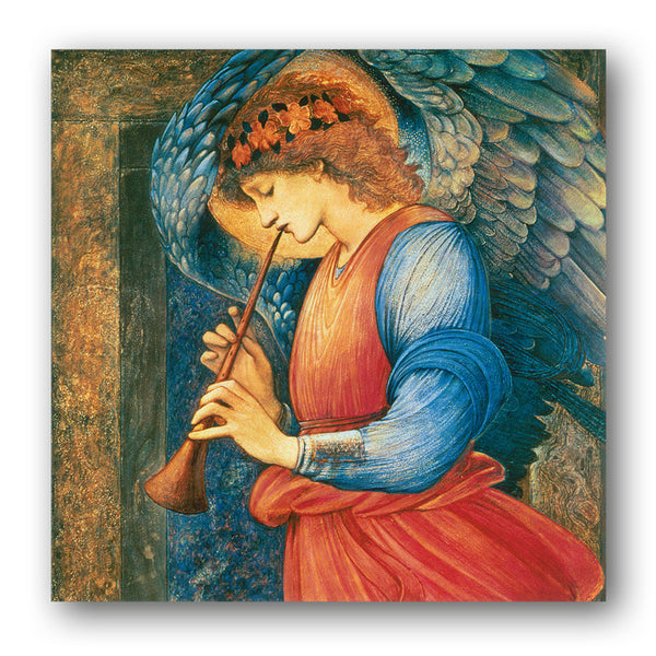 Pack of 5 Christmas Cards - Angel Playing a Flageolet