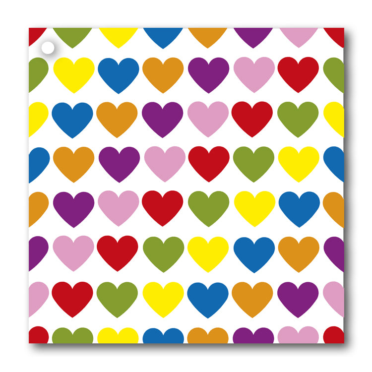 Multi Coloured Heart Gift Tags from Dormouse Cards