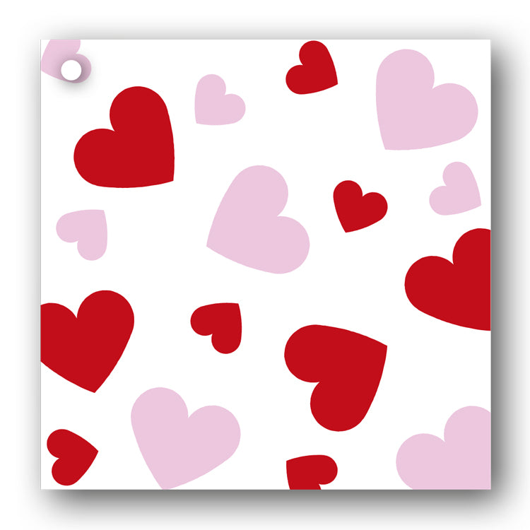 Red and White Hearts Gift Tags from Dormouse Cards