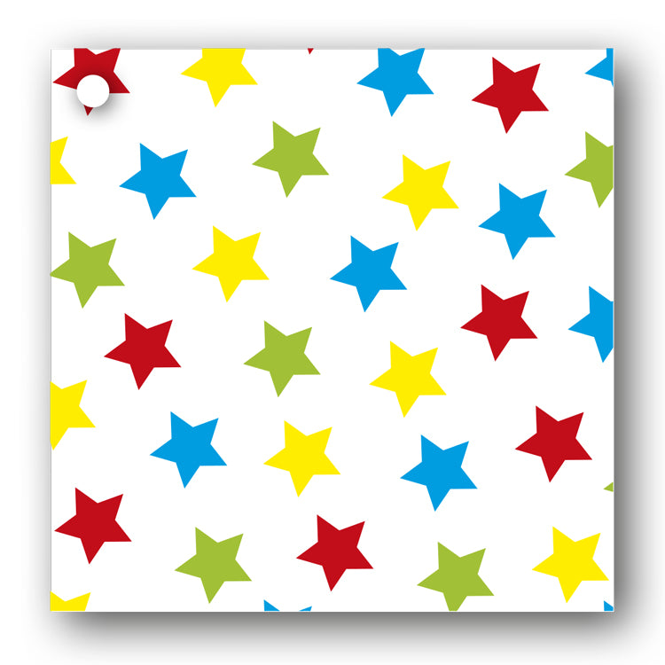 Multi Coloured Stars Gift Tags from Dormouse Cards