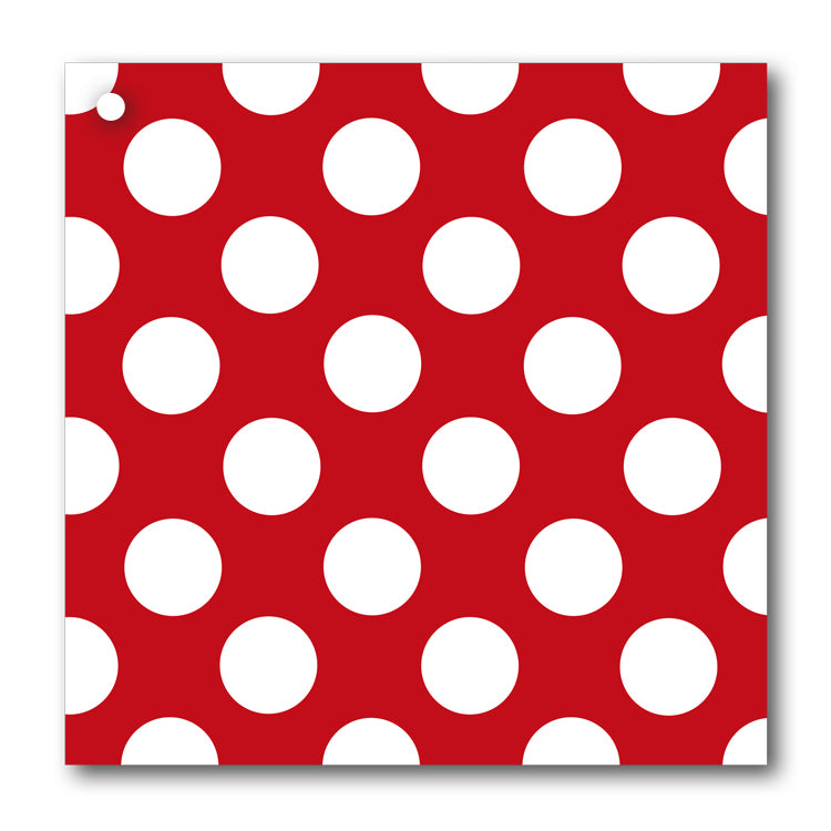 Red and White Polka Dot Gift Tags from Dormouse Cards