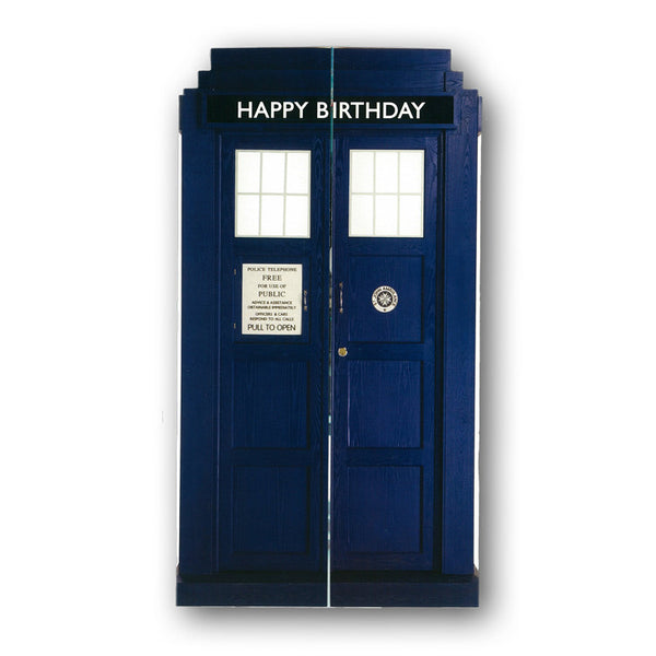 Dr Who Tardis Birthday Card from Dormouse Cards