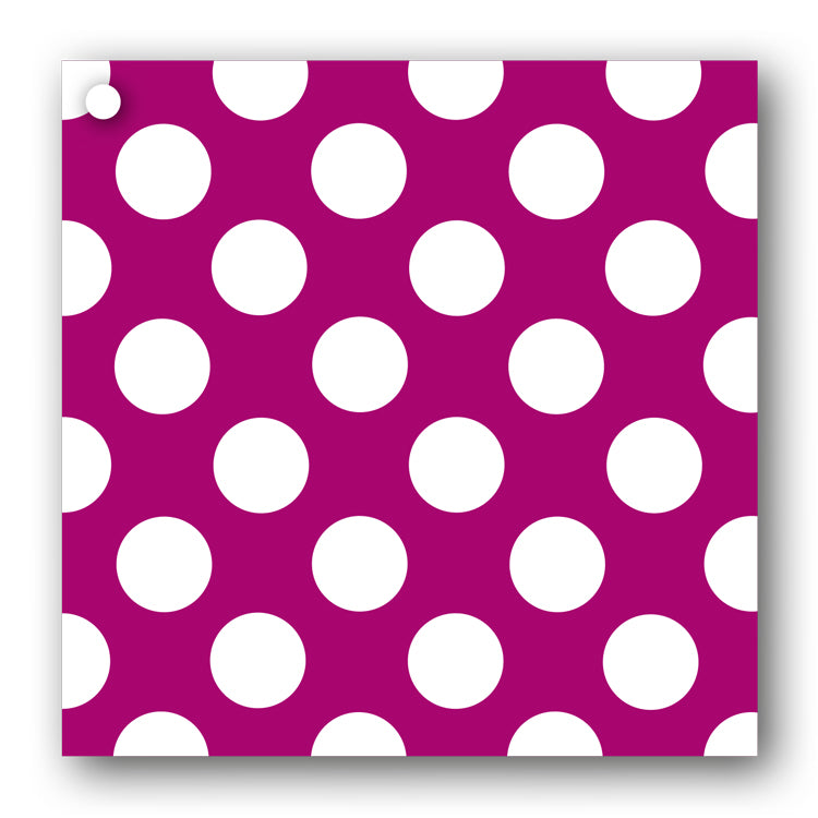 Fuchsia and White Polka Dot Gift Tags form Dormouse Cards