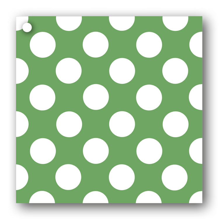 Green and White Polka Dot Gift Tags from Dormouse Cards