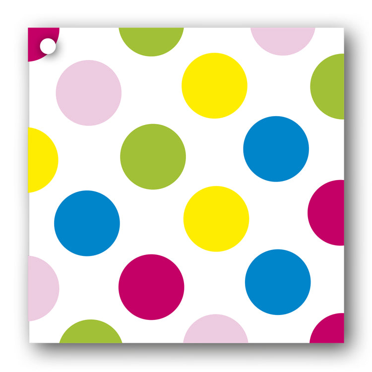 Mulit Coloured Polka Dot Gift Tags from Dormouse Cards