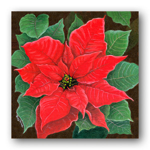 Poinsettia Christmas Gift Tags from Dormouse Cards