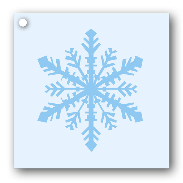 Snowflake Gift Tags blue on blue from Dormouse Cards