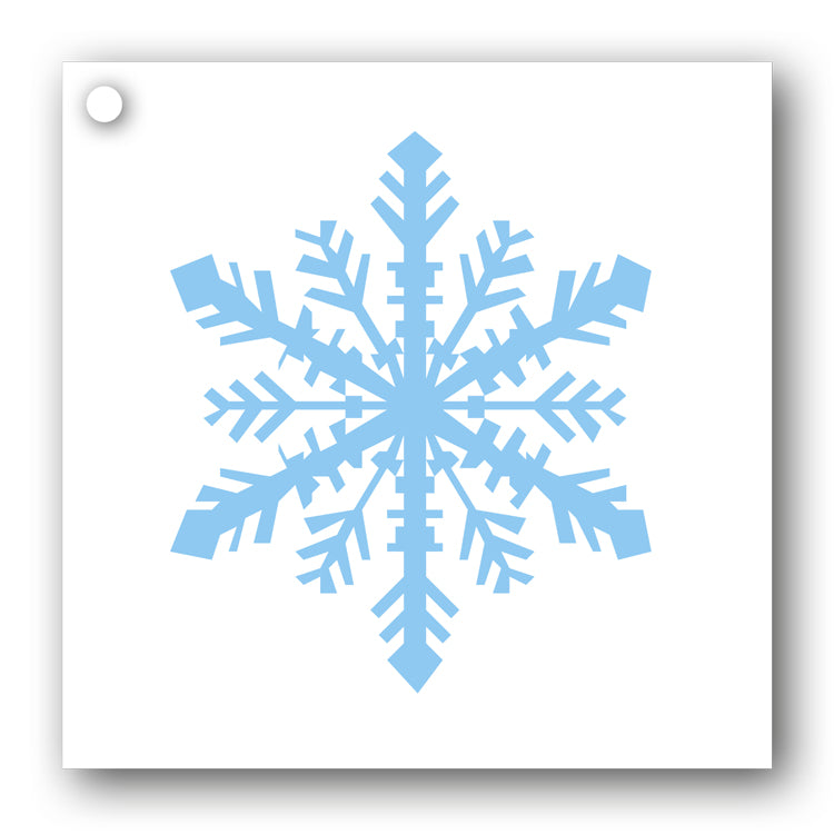 Snowflake Gift Tags blue on white from Dormouse Cards