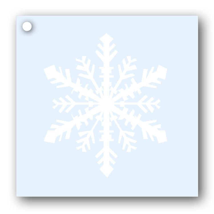 Snowflake Gift Tags white on blue from Dormouse Cards