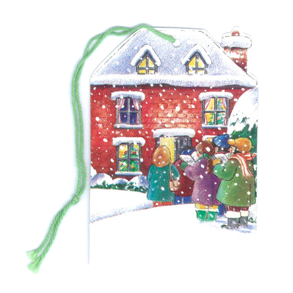 Courtier Christmas Carol Singers Gift Tags from Dormouse Cards