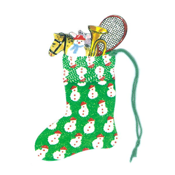 Courtier Snowman Christmas Stocking Gift Tags from Dormouse Cards