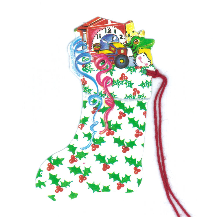 Courtier Holly Christmas Stocking Gift Tags from Dormouse Cards