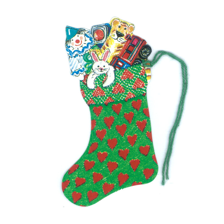 Courtier Hearts Christmas Stockings Gift Tags from Dormouse Cards