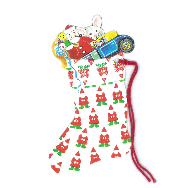 Courtier Santa Christmas Stocking Gift Tags from Dormouse Cards