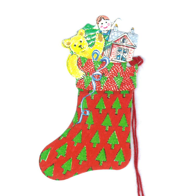 Courtier Christmas Stockings Gift Tags from Dormouse Cards