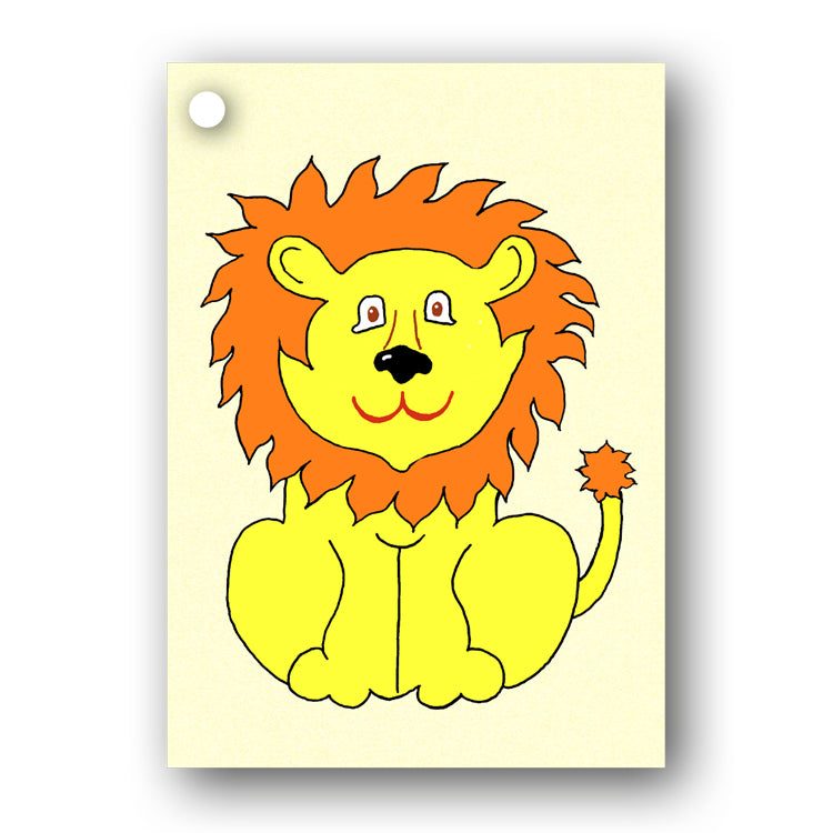 Lion Gift Tags from Dormouse Cards