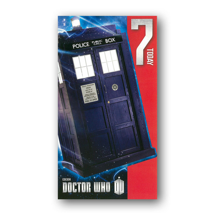 Dr Who 7th Birthday Card from Dormouse Cards