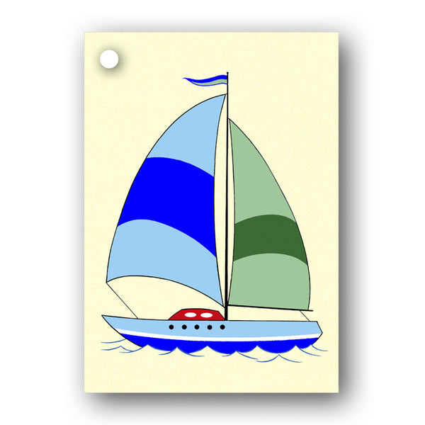 Sailing Boat Gift Tags from Dormouse Cards