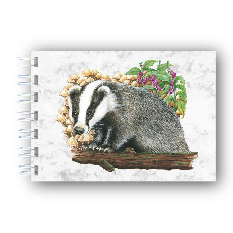 A6 Badger Wire Bound Marble Notebook from Dormouse Cards