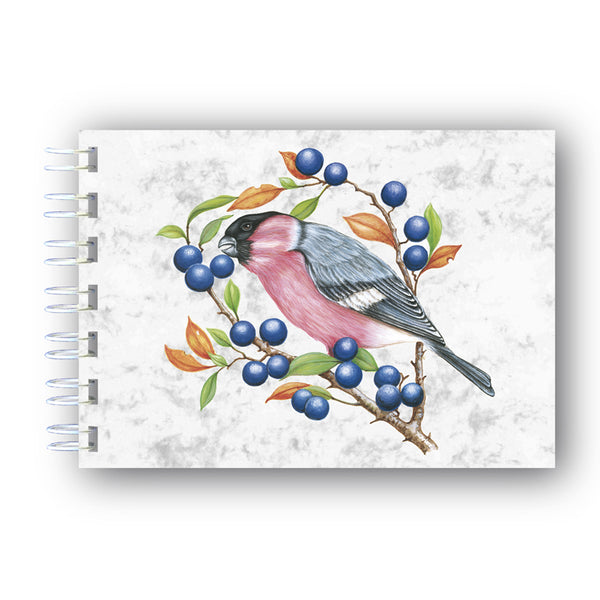 A6 Bullfinch Wire Bound Marble Notebook from Dormouse Cards