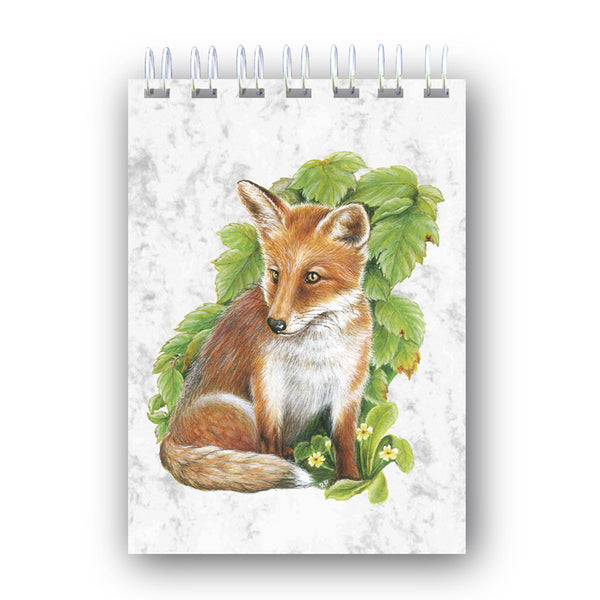 A6 Fox Wire Bound Marble Notebook from Dormouse Cards