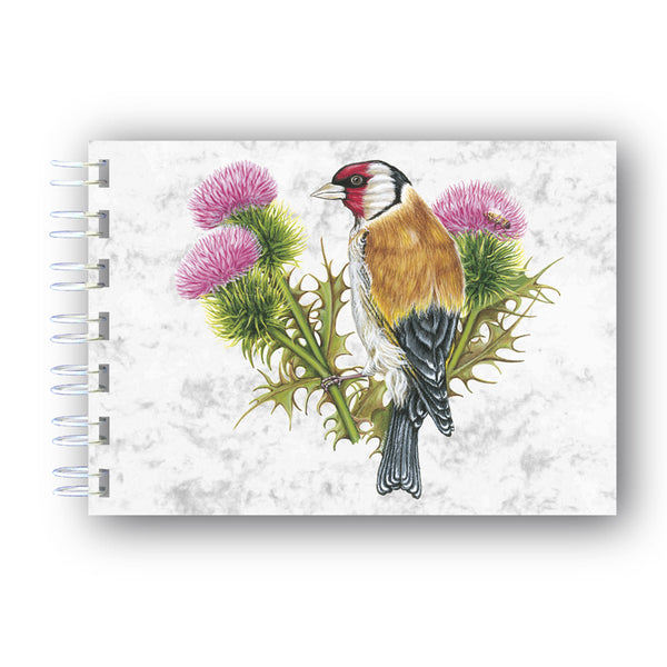 A6 Goldfinch Wire Bound Marble Notebook from Dormouse Cards