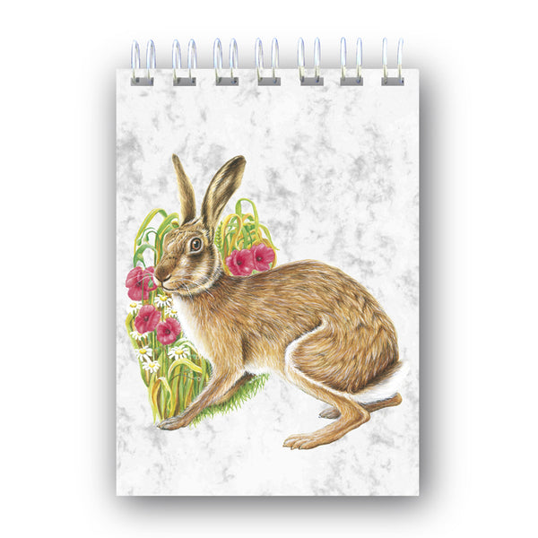A6 Hare Wire Bound Marble Notebook from Dormouse Cards