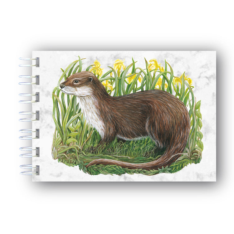 A6 Otter Wire Bound Marble Notebook from Dormouse Cards