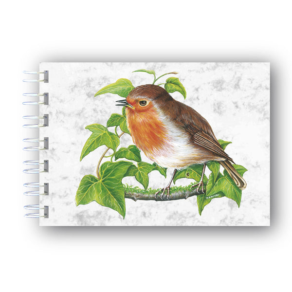 A6 Robin Wire Bound Marble Notebook from Dormouse Cards