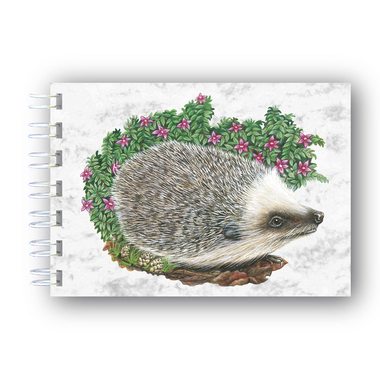 A6 Hedgehog Wire bound Marble Notebook from Dormouse Cards