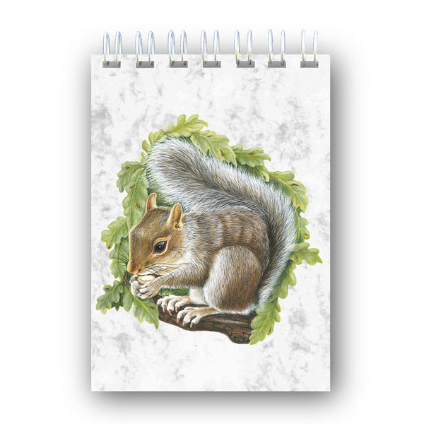 A6 Squirrel Wire Bound Marble Notebook from Dormouse Cards