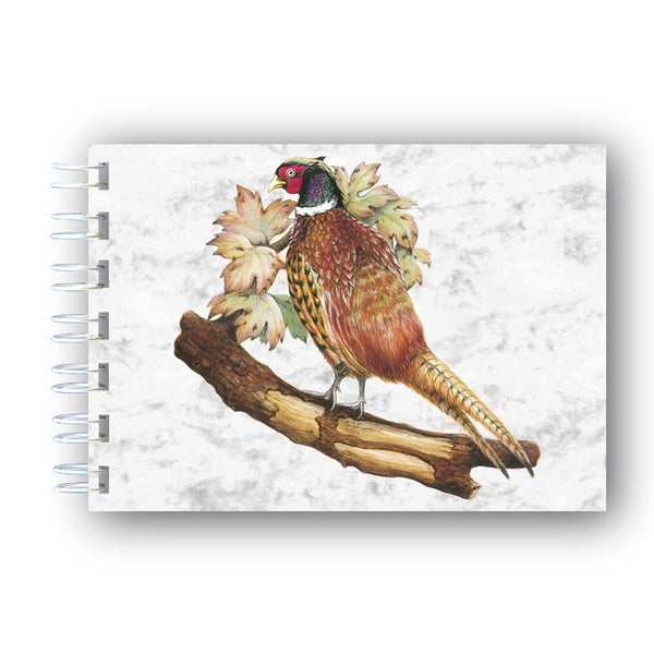 A6 Pheasent Wire Bound Marble Notebook from Dormouse Cards