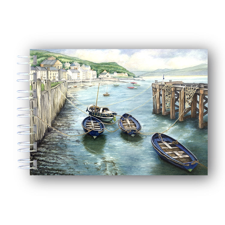 A6 Boats at Aberdovey Wire Bound Notebook from Dormouse Cards