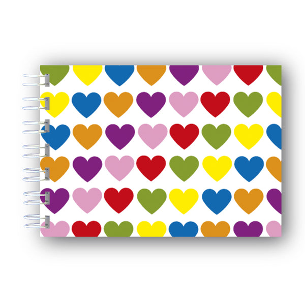A6 Hearts Notebook from Dormouse Cards